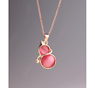 Fashion Korea Opal Calabash Alloy Necklace for Women in Jewelry Gift