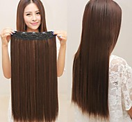 Long Straight Synthetic and Clip in Hair Extension with 5 clips(More Colors)