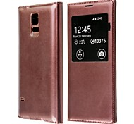 PU Leather Flip-Open Case with Auto-Sleep for Samsung Galaxy S5 (Assorted Colors)