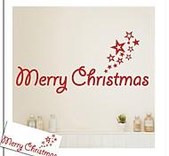 "zooyoo® bonito palavra removível colorido pvc ""Feliz Natal"" de adesivos de parede adesivos de parede de venda quente para a decoração da"