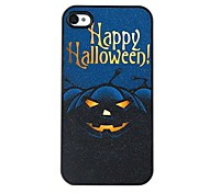 The Black Halloween Pumpkin Pattern Plastic Hard Case for iPhone4/4S
