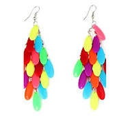 Women's Colorful Drop-Shaped Tassel Earrings (1Pair)