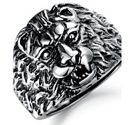 Fashion Antique Stainless Steel Lions Men's Rings (1 Pcs)