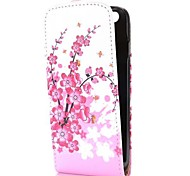 Plum Blossom Flower Fashion Vertical Style Magnetic Flip PC+PU Leather Case for iPhone 6