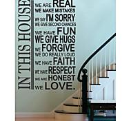 jiubai® etiqueta de la pared decoración de la casa habitación regla etiqueta de la pared