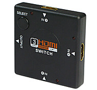 HDMI V1.3 3X1 HDMI Switch(3 in 1 out) Support 1080P
