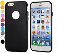 Smooth Ultra-slim with Logo Cutout Style Detachable PC Bumper and TPU Case for iPhone 6(Assorted Colors)