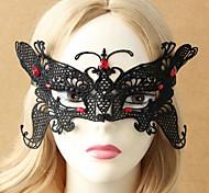 Women's Halloween Butterfly-Shaped Lace Mask