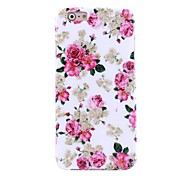 Pink Peony Pattern TPU Soft Case for iPhone 6