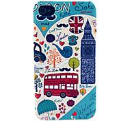 London Cartoon Big Ben Building Pattern Hard Case for iPhone 4/4S