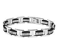 Men's Fashion Personality Titanium Steel Splicing Bracelets
