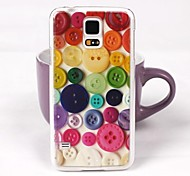 Beautiful Button Pattern PC Back Case for Samsung Galaxy Note 4