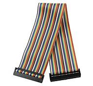 40-контактный многоцветные указано кабель для передачи данных для Raspberry Pi б +
