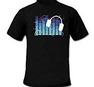 Sound und Musik aktiviert Spektrum VU-Meter el Visualizer führte T-Shirt (2 * AAA)