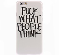 Fuck What People Think Design Hard Case for iPhone 6 Plus