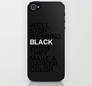 schwarz zeigen Muster Hülle für das iPhone 4 / 4s