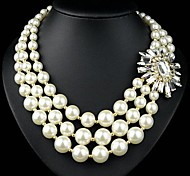 Fashion Yellow Pearl Short Necklace(Yellow)(1Pcs)
