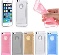 Thin Crystal Glow Soft Silicone Back Cover Case Skin for iPhone 6 (Assorted Color)