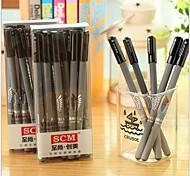 ataque a caneta gel tinta preta Titan (cor aleatória)