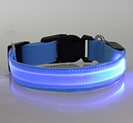 Fashionable Flashing Nylon LED Light Pet Dog Collar Safety Collar (TM-XQ, Blue, M)