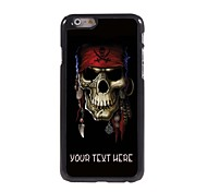 "Personalized Case Pirate Skull Design Metal Case for iPhone 6 (4.7"")"