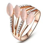opala clássico pedra cristais austríacos vendas de amostra amigos presente rosa banhado a ouro partido gota de água jóias anel fora