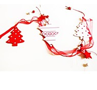 Christmas Hanger  Tree Shape  Long 1 PC MDF Materiels for Christmas Decorations