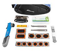 Nepartak Multi-Functional Bike Repair Tool Kit Including Tire Repair Kit with Red Pump