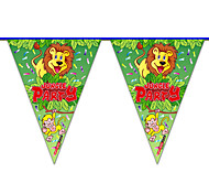 Multicolor Happy Birthday Lion Flag Banner Party Accessory