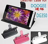 vendita calda cassa di cuoio dell'unità di elaborazione del cuoio di vibrazione 100% per dg350 doogee sinistra a destra smartphone a 3 colori