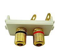 High Quality Banana Binding Post Wall Plate With High Quality Gold Plated for Speakers