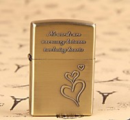 Bronze Heart Shaped Relief Pattern Kerosene Lighter