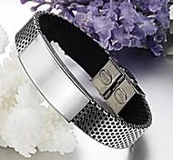 Z&X®  Men's Fashion Personality Glaze Titanium Steel Bracelets