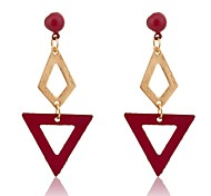 Lureme®Fashion Cavity Rhombus Triangle  Earrings