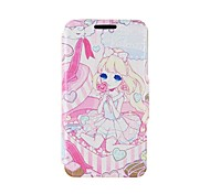 Kinston Gift Girl Pattern PU Leather Full Body Cover with Stand for Nokia Lumia 520