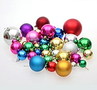 36 pcs Christmas Decorations Hanging Drop Balls Multicolor Different Diameter
