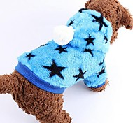 Dog Coat Blue / Pink Dog Clothes Winter Stars