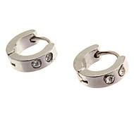 Earring Stud Earrings Jewelry Party / Daily / Casual Stainless Steel Silver