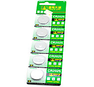 5pcs 3V CR2025 Lithium Button Battery