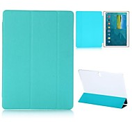 Tri-foldable Flip Stand Cross Texture Auto Sleep/Wake Leather Case for Samsung Galaxy Tab S T800(Assorted Colors)