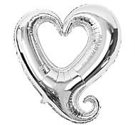 18 polegadas dia da festa de aniversário balão vermelho do coração dos namorados casamento membrana de alumínio
