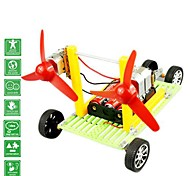 DIY Wind Force Double Motor Car Novelty Toys