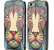 frais motif tribal de léopard de style magnétique vertical étui en cuir flip pour iphone 6