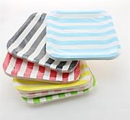 venda quente pratos de papel listrado descartáveis pratos de papel do partido quadrado (12 pcs)
