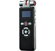 8g profissional de alta definição de voz digital gravador ditafone com função despertador / mp3 player e tela de led