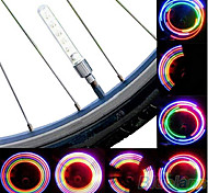 Bike Light , Wheel Lights / Valve Cap Flashing Lights / Bike Lights - 1 Mode Lumens Cell Batteries Battery Cycling/Bike Multicolor Bike