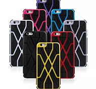 Человек-паук шаблон Силиконовый чехол для iPhone 6 Plus (разные цвета)