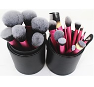 22pcs Professional Makeup Brush  Set with Cylinder Case