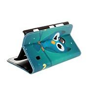 Для Кейс для Nokia Кошелек / Бумажник для карт / со стендом Кейс для Чехол Кейс для Сова Твердый Искусственная кожа Nokia Nokia Lumia 520