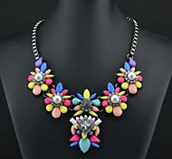Women's Rainbow Color Pearl Necklace